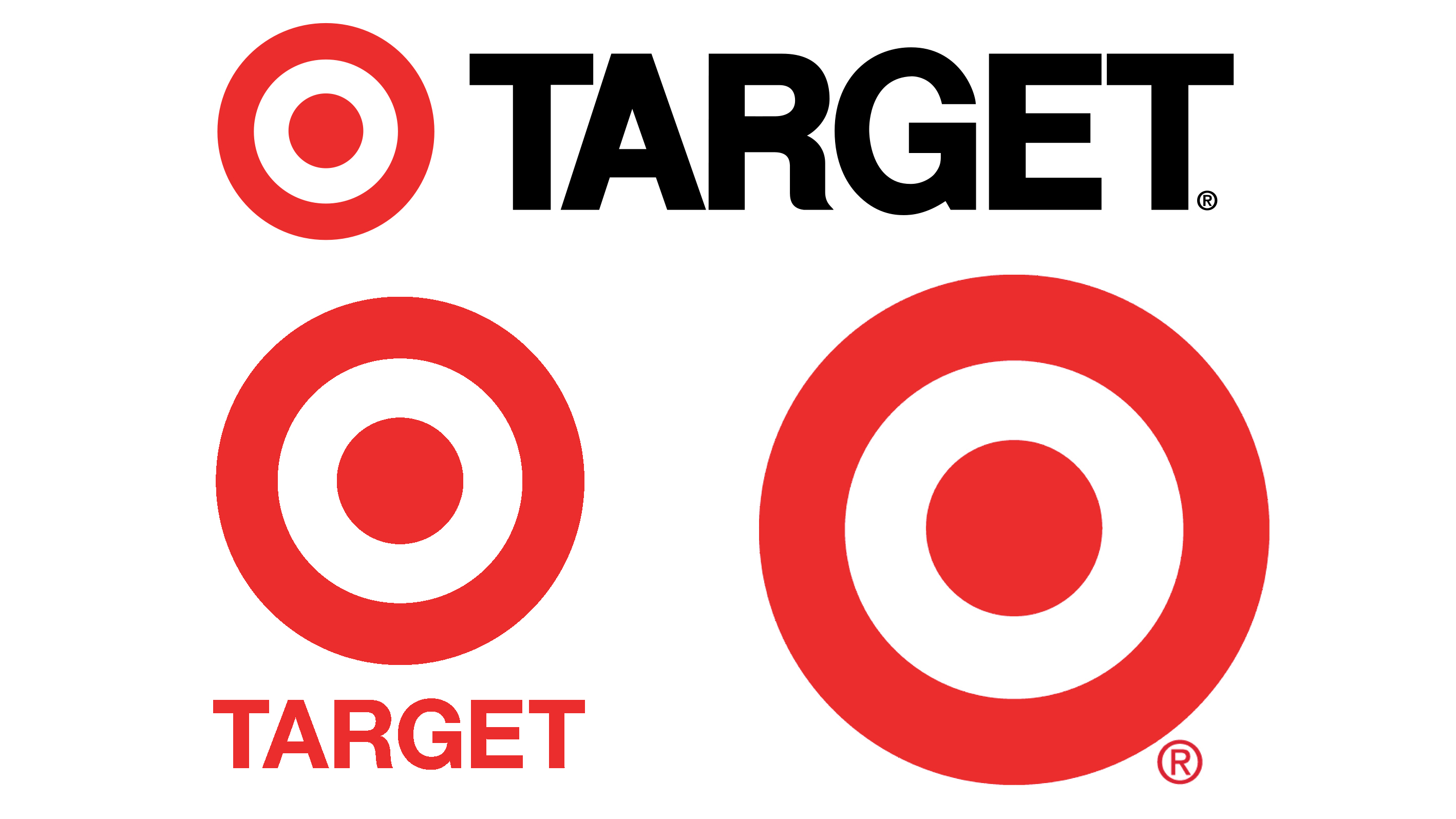 Target logo before and after
