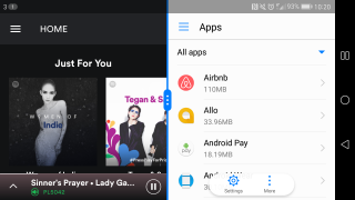 how to run apps side by side in nougat
