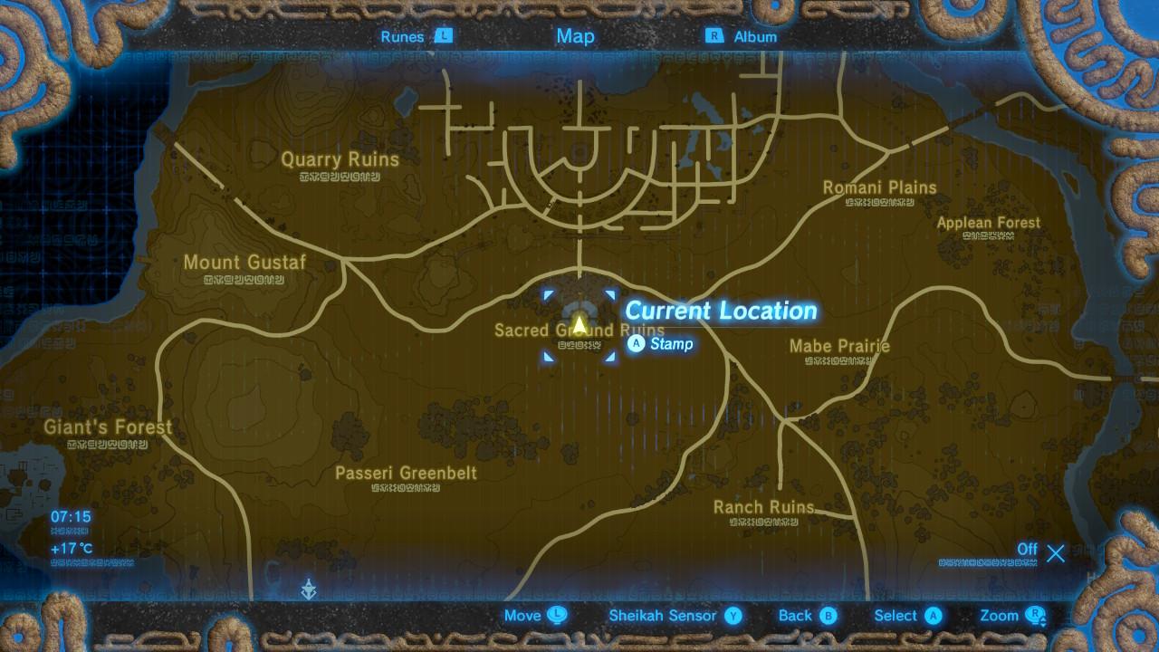The Legend Of Zelda Breath Of The Wild Captured Memories Locations