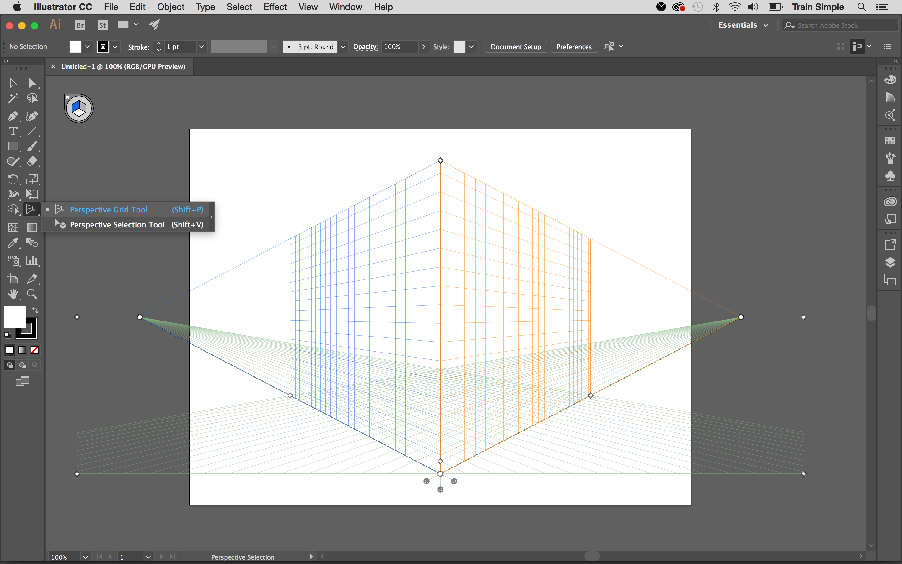 Art in perspective: set up Perspective grid