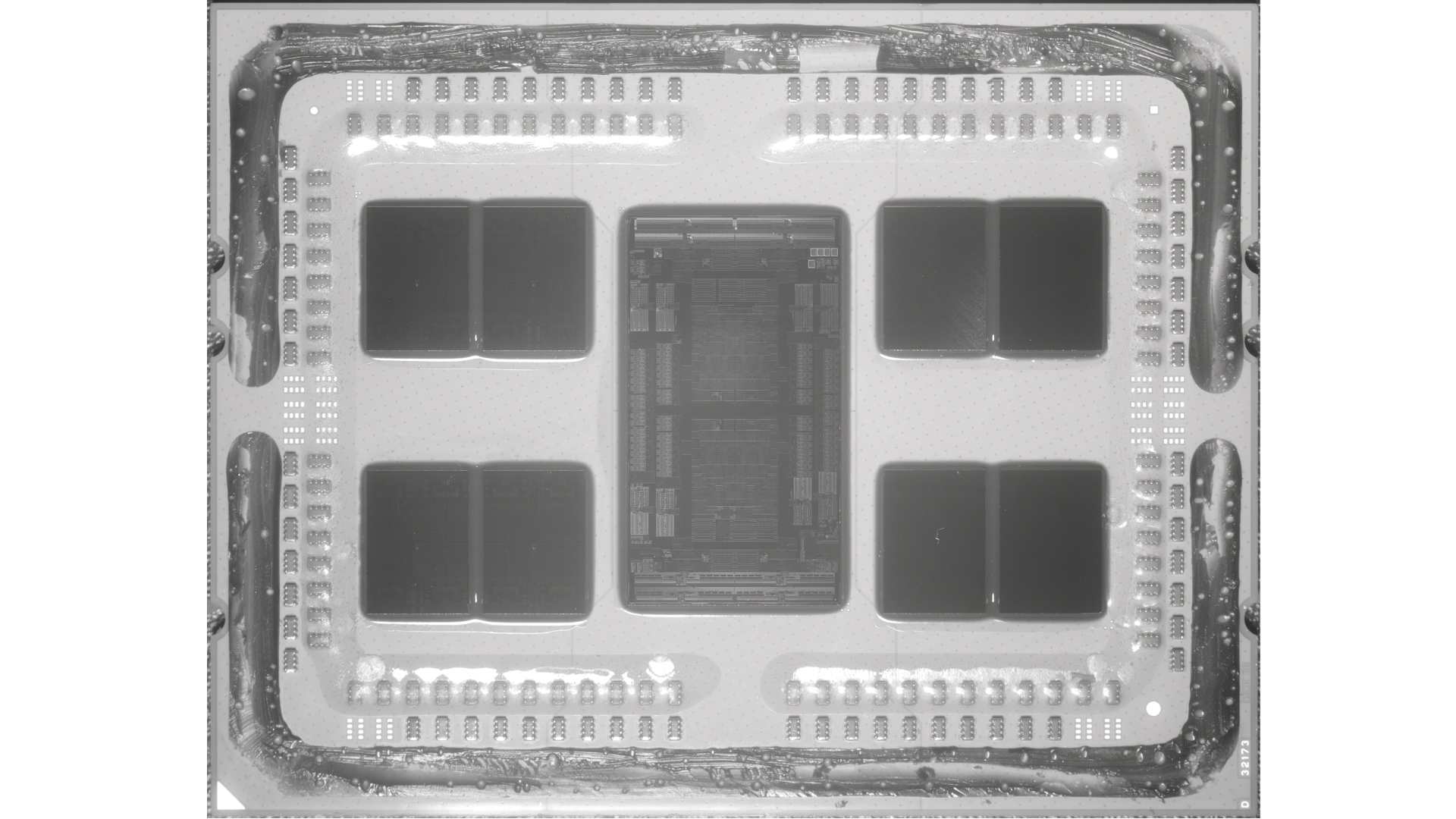 AMD Epyc Rome chip close-up