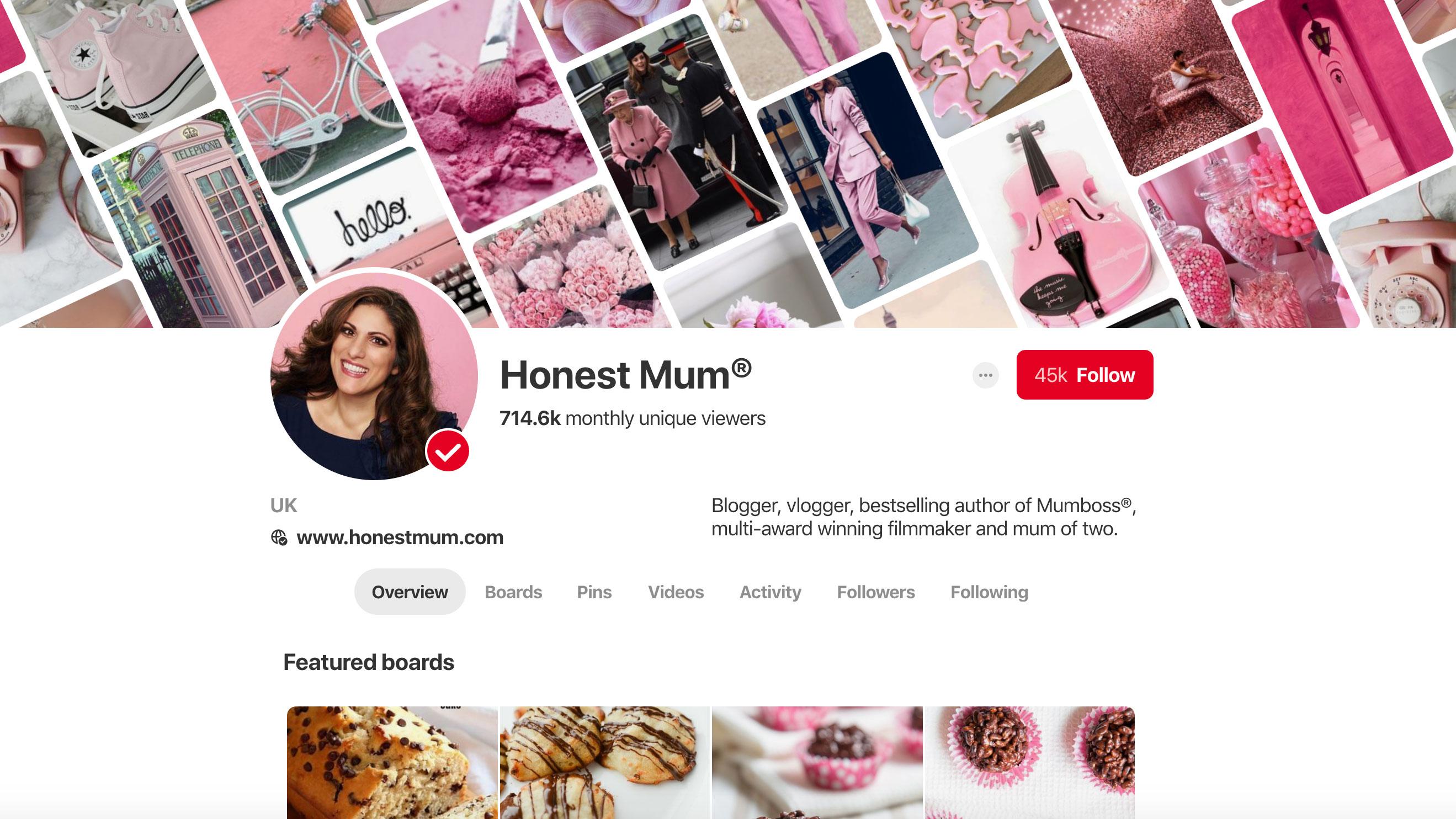 Pinterest Vicky Psarias aka Honest Mum
