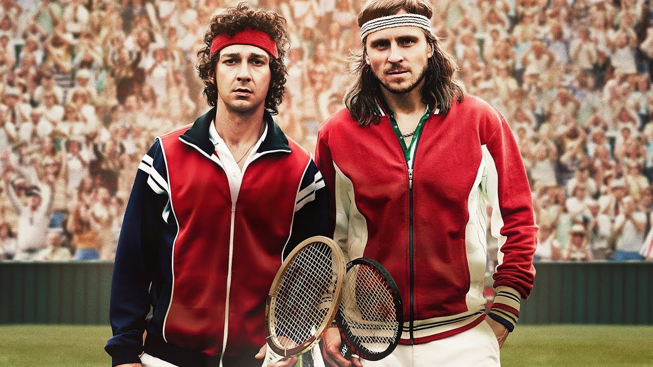 A still from the movie Borg vs Mcenroe