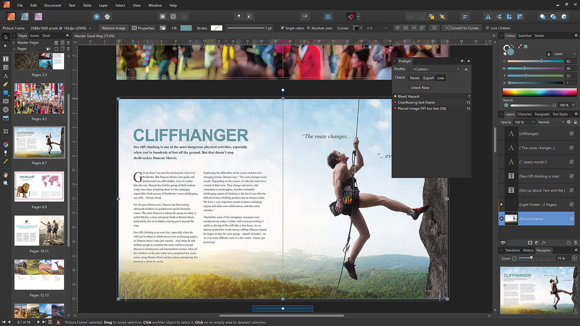 Affinity Publisher preflight