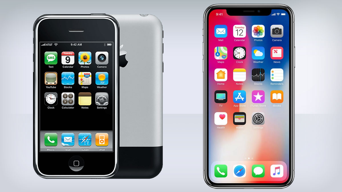 IPhone Through The Ages Just How Much Has It Changed TechRadar - The evolution of the mobile phone perfectly illustrated in one image