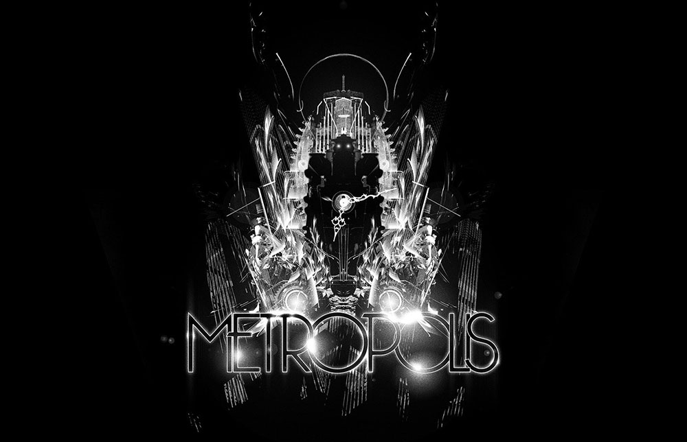 Metropolis typographic title and Bauhaus styling