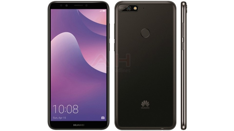 Huawei Y7 2018 render leaked, shows display, singular rear camera
