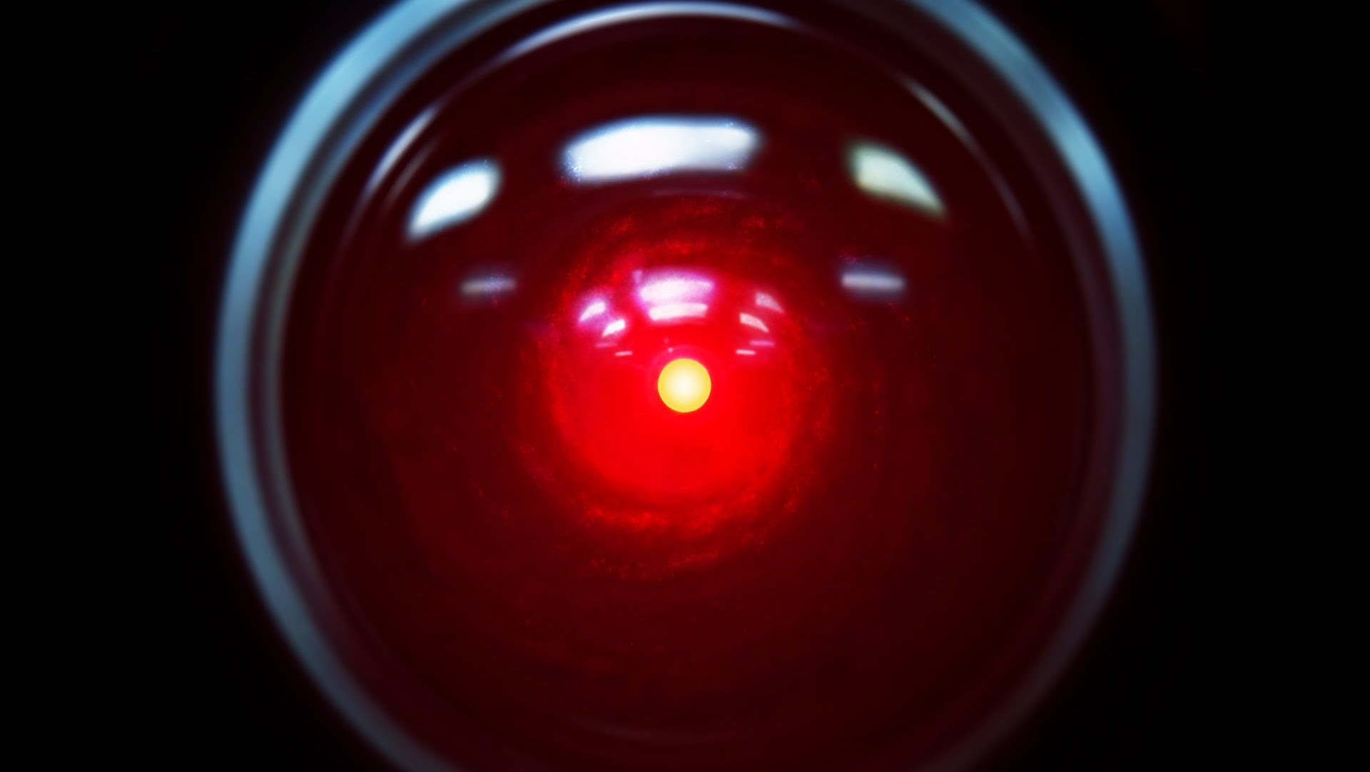A picture of the HAL 9000 from 2001: A Space Odyssey