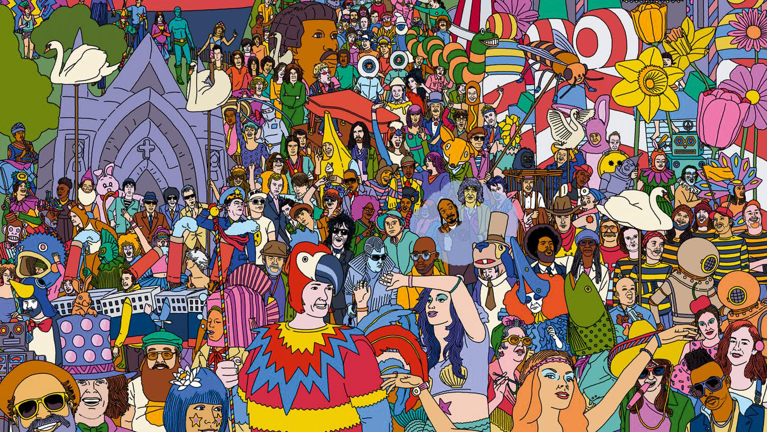 Artwork for Where's My Welly?: The World's Greatest Music Festival Challenge, illustrated by Jim Stoten
