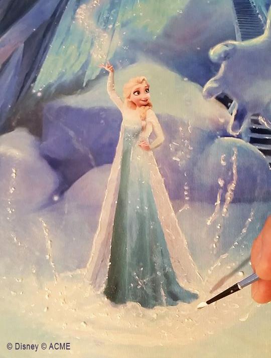 Painting of Princess Elsa