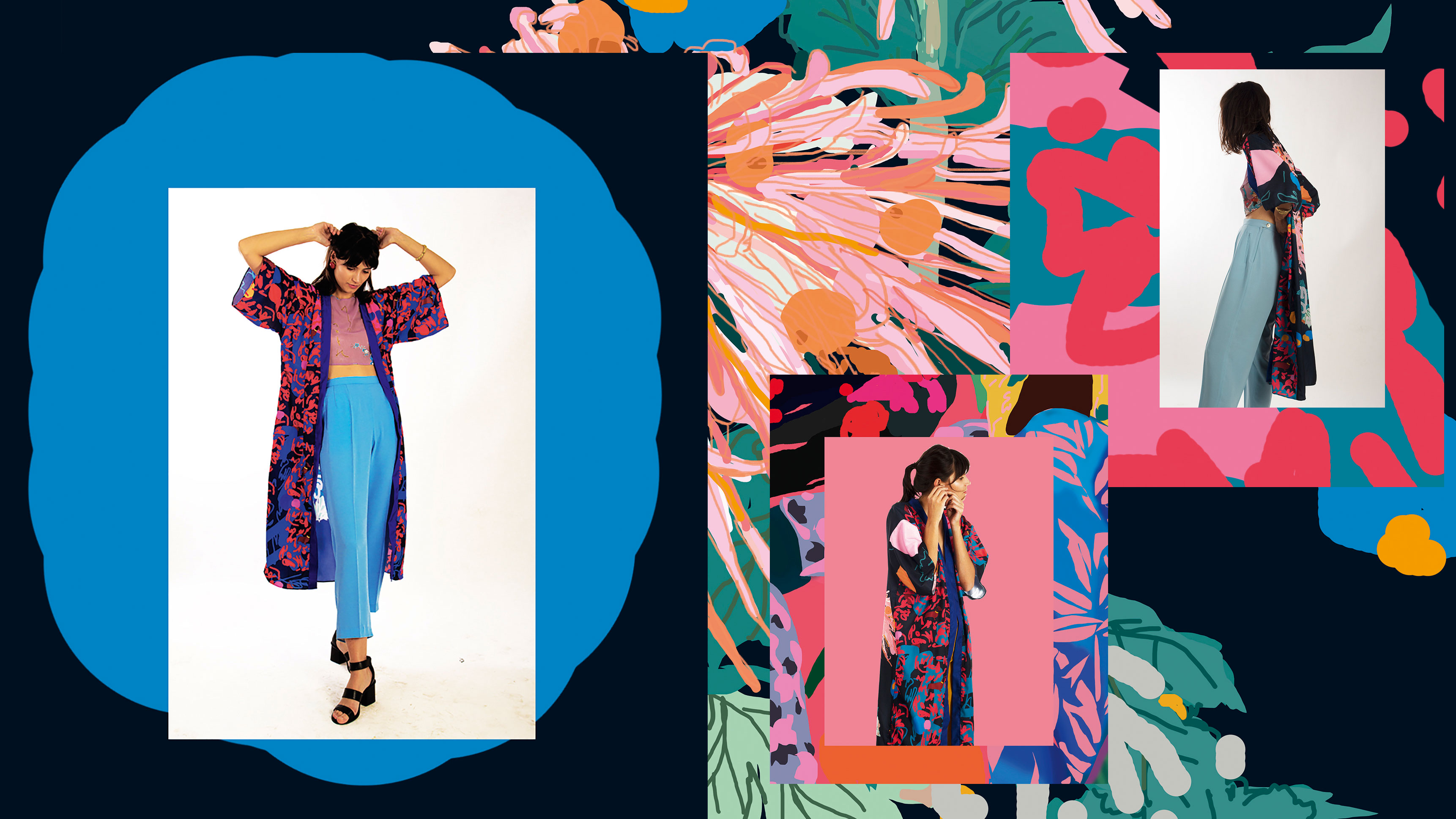 Design colourful kimonos in Photoshop