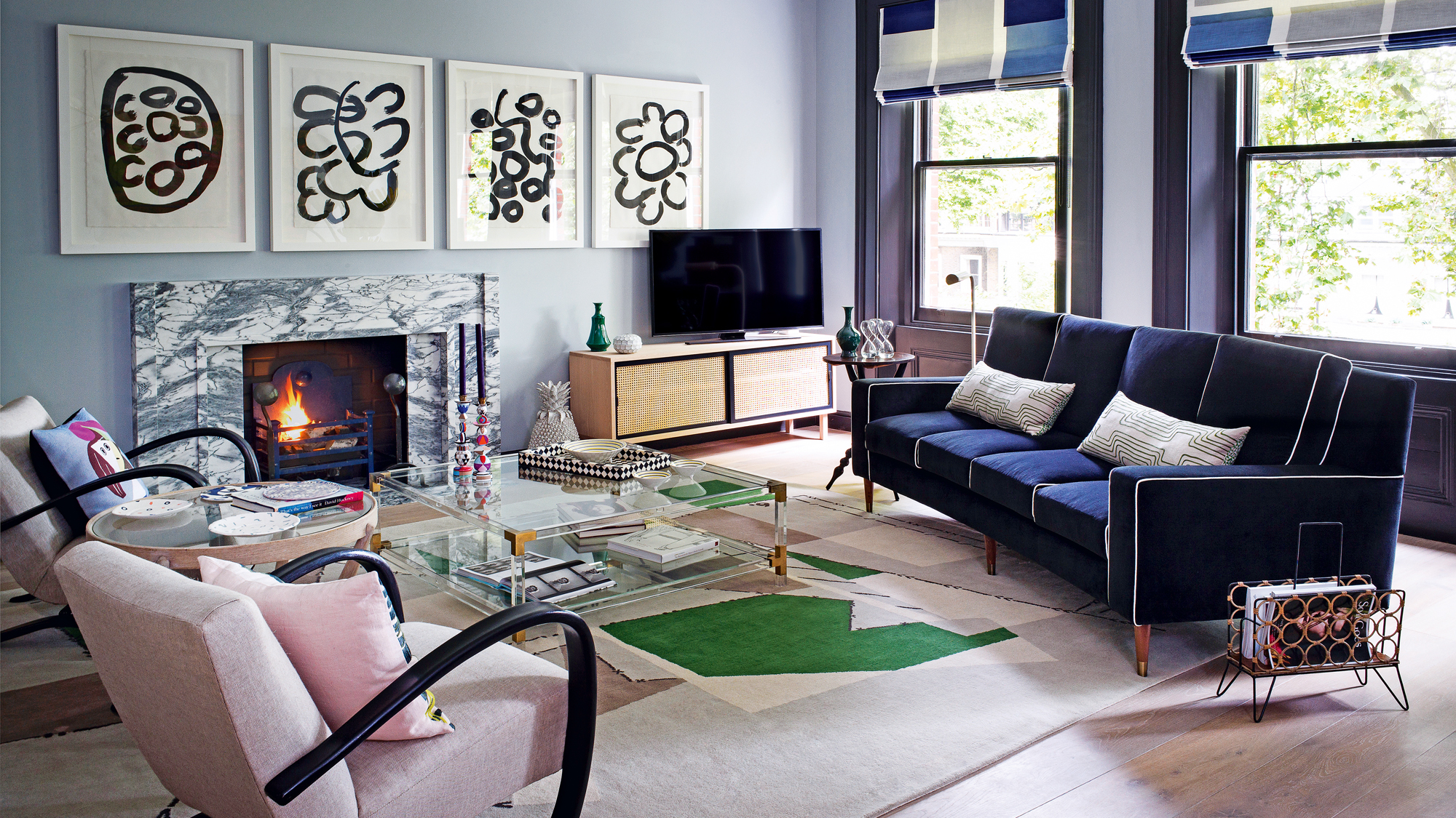 Blue Living Room Ideas Decorate With, Blue Living Room
