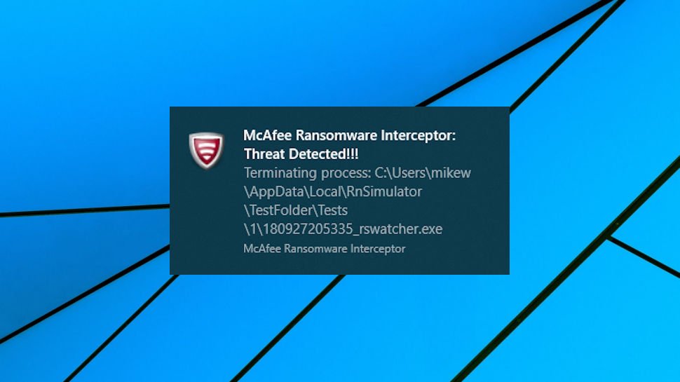 McAfee Ransomware Interceptor