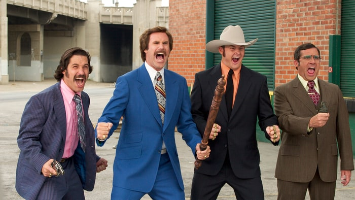 A still from the movie Anchorman