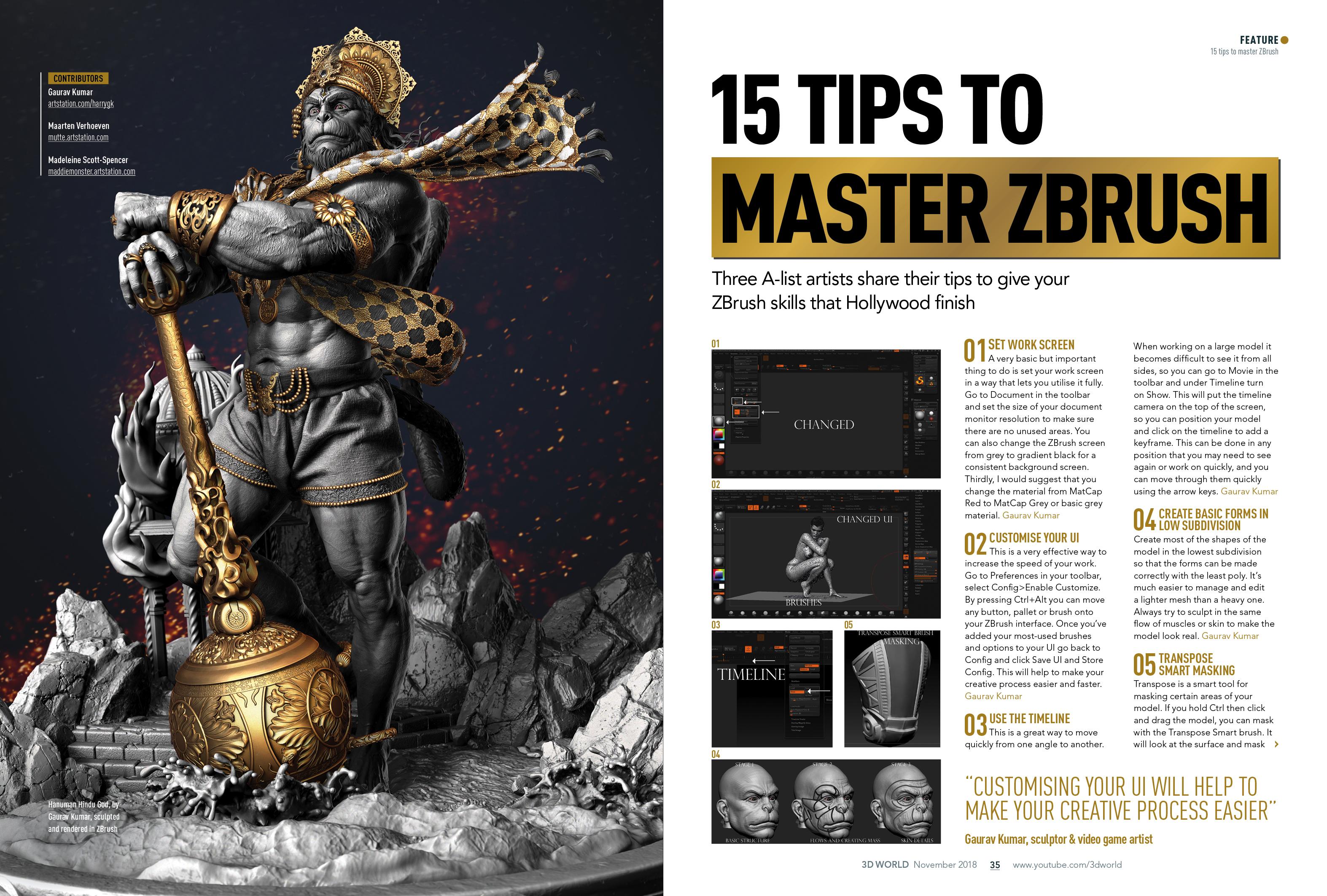 Master ZBrush digital sculpting with 3D World - Ειδήσεις από
