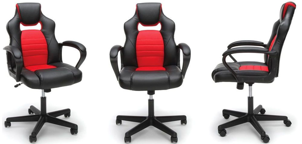 Park your backside in a racing themed gaming chair for $43