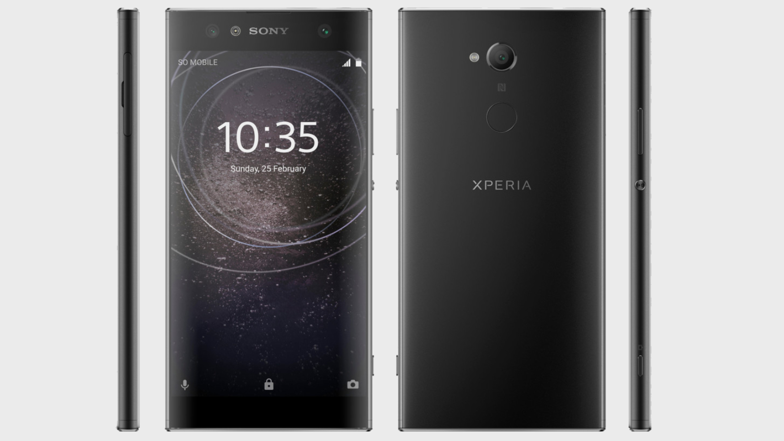 The front and back of the leaked XA2 Ultra