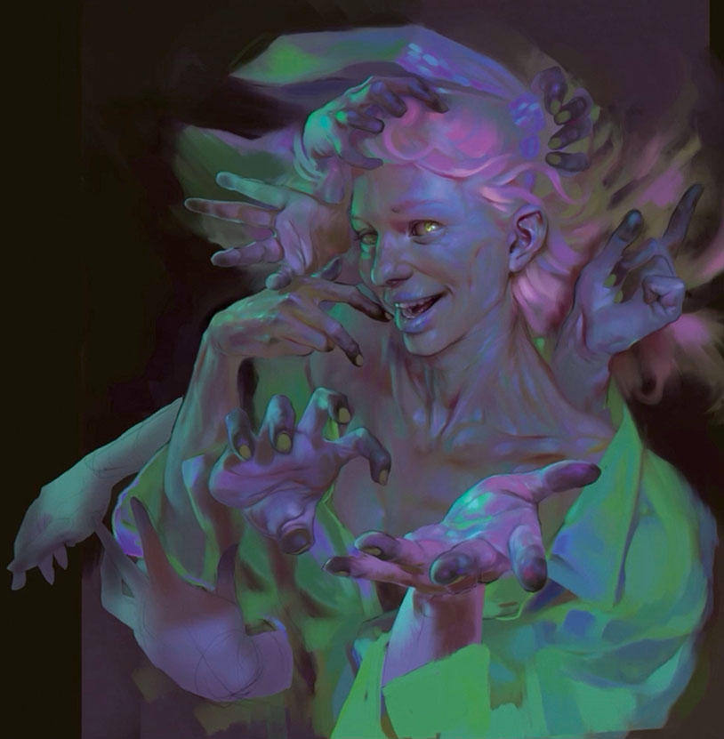 create colourful zombie