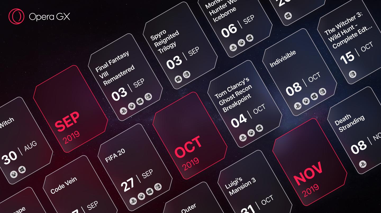 Opera GX release calendar