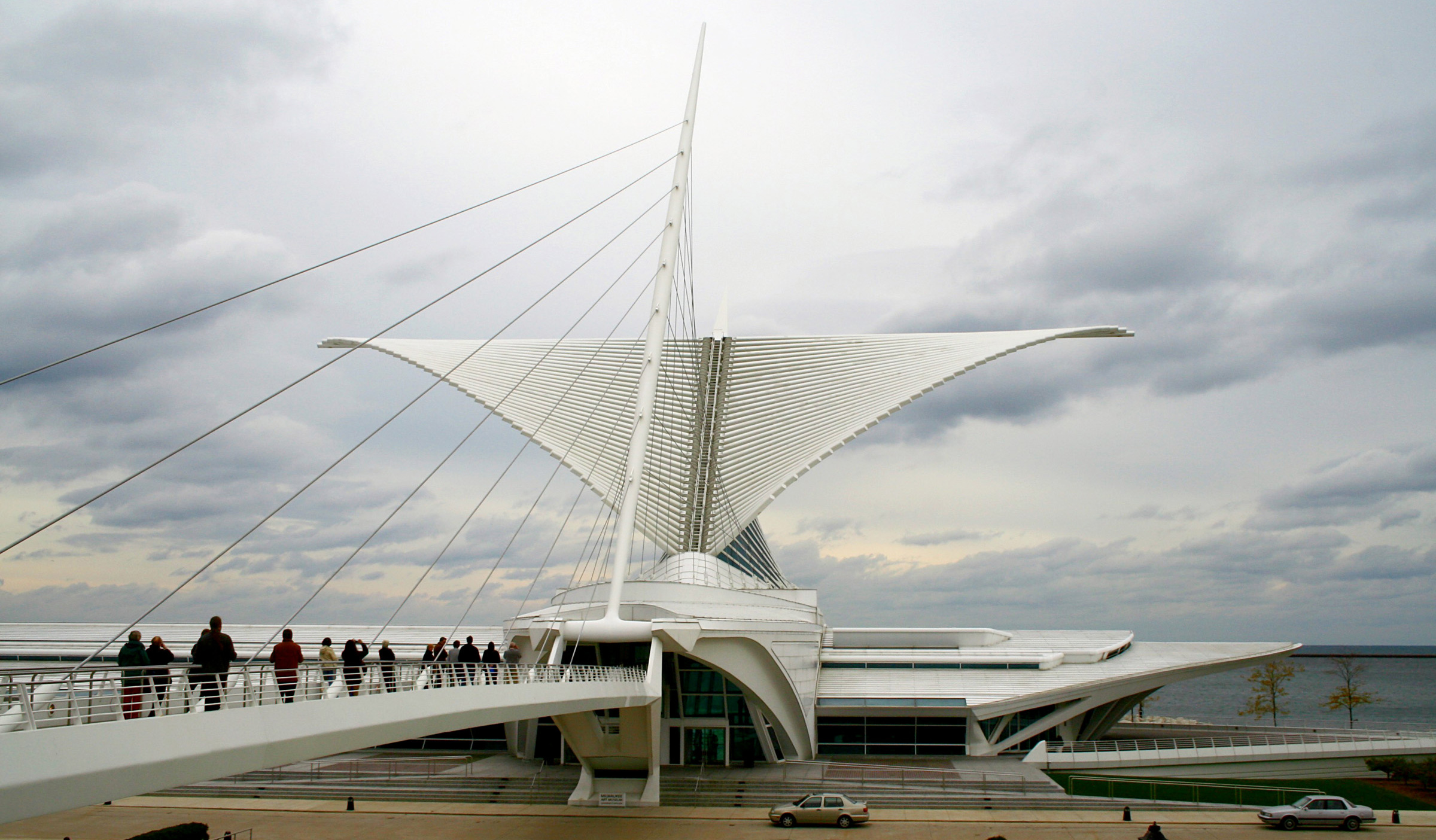 Famous buildings: Milwaukee Art Museum in Wisconsin
