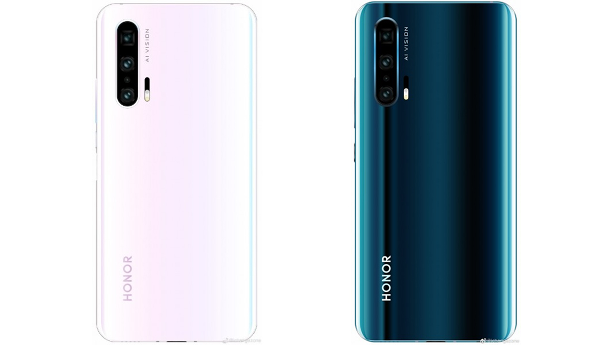 New Honor 20 leak shows off the phone in a pink and white color
