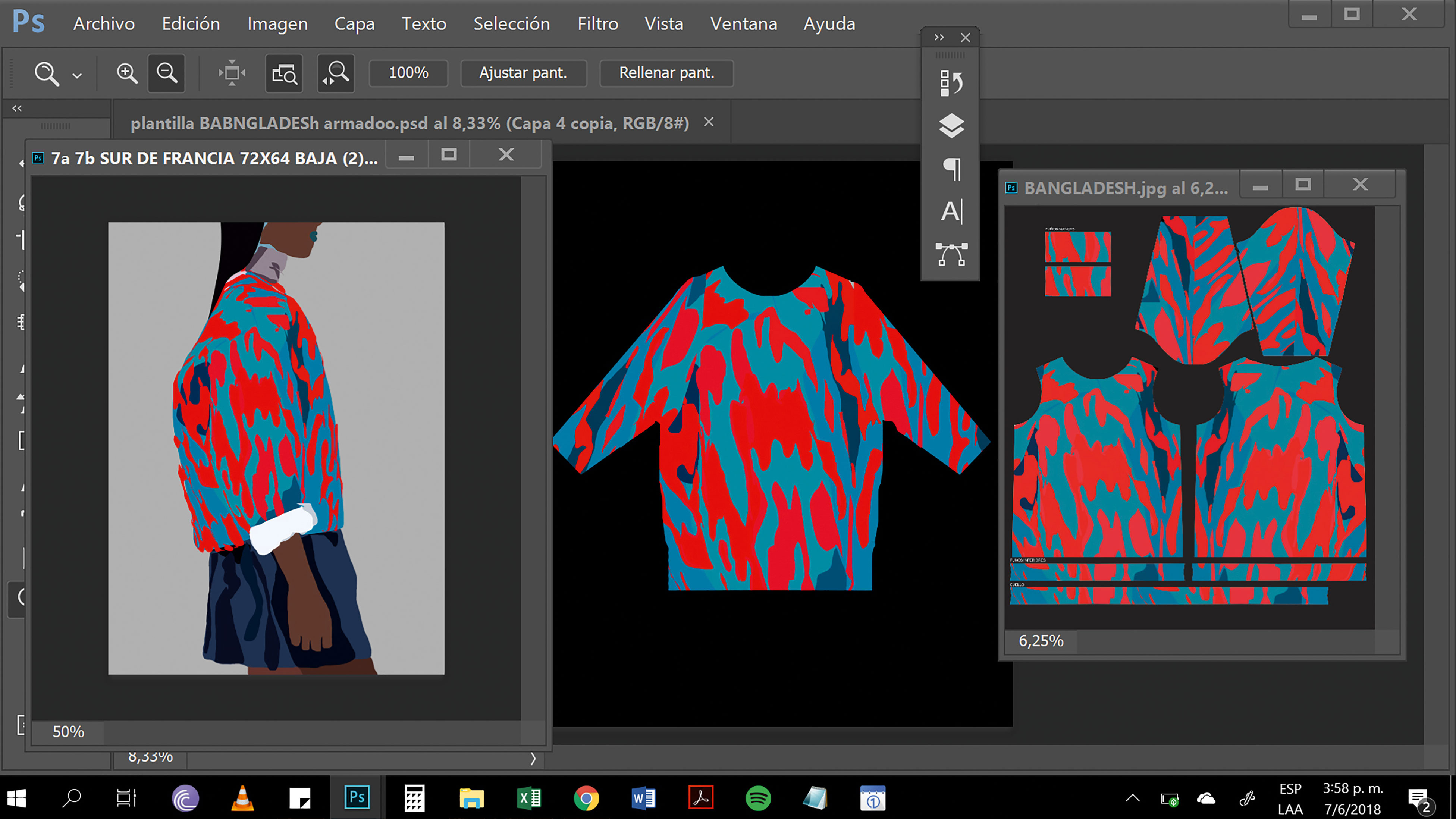 designs for a jumper in Photoshop