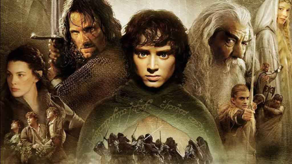 A promo shot for the movie The Lord of the Rings The Fellowship of the Ring