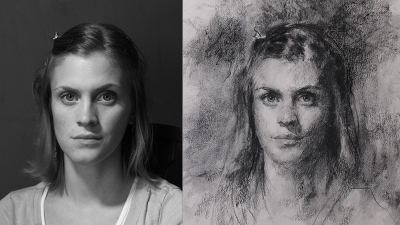 Reference images: photograph next to artist's impression
