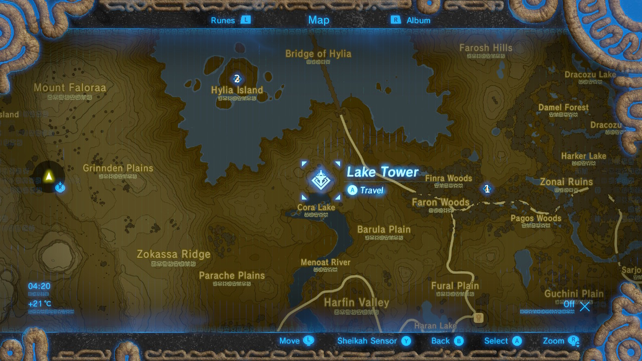 The Legend Of Zelda Breath Of The Wild Shrine Locations
