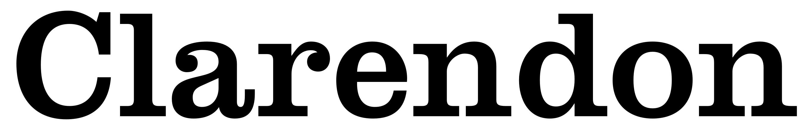 Clarendon typeface
