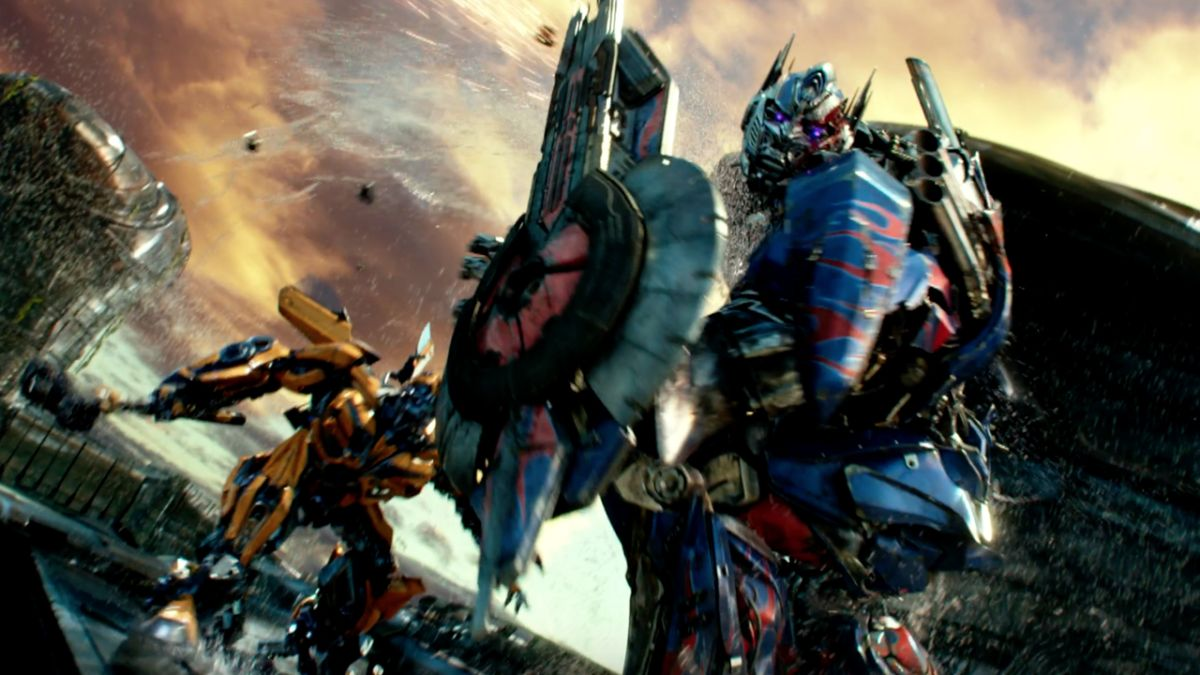 transformers 5 trailer teases a massive brawl between optimus prime and bumblebee and a. Black Bedroom Furniture Sets. Home Design Ideas