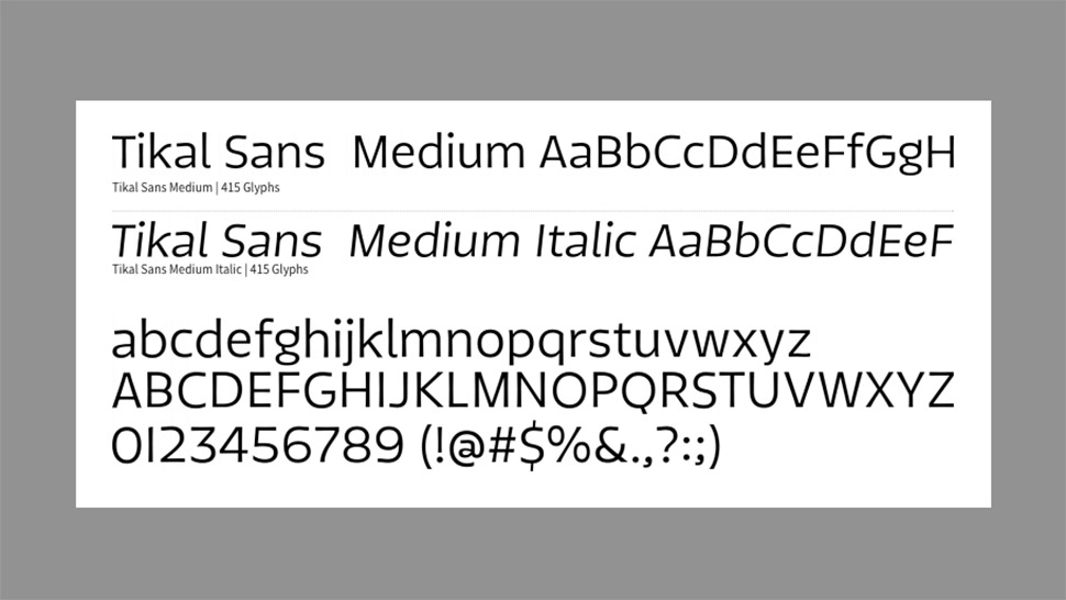 Free web fonts Tikal Sans