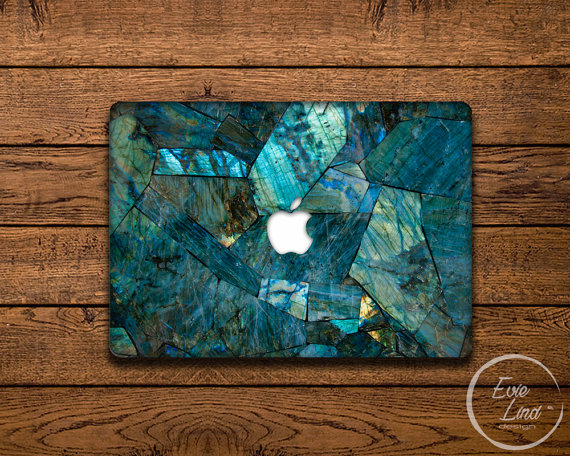 Iridescent Stone MacBook decal