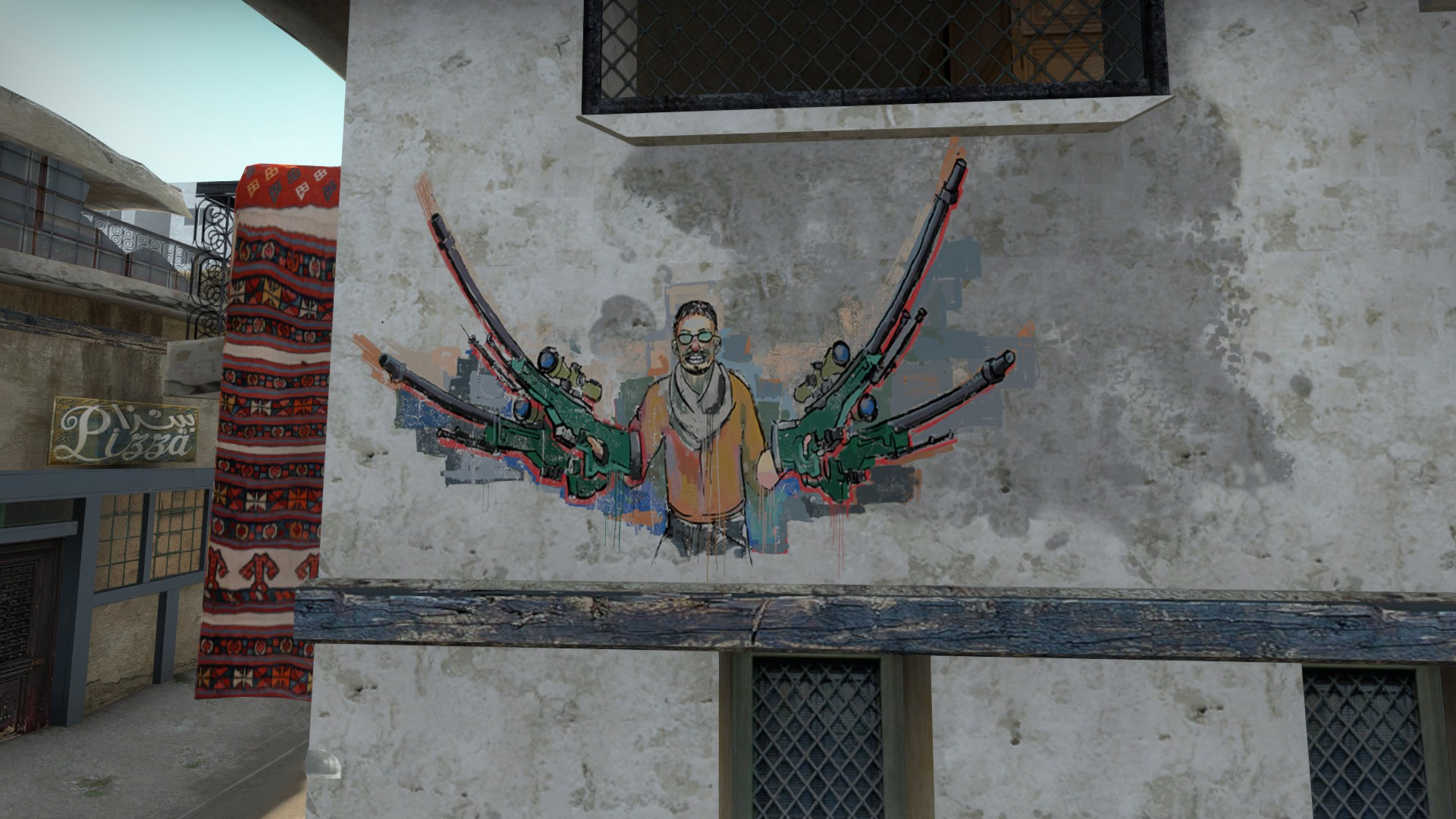 The Legendary Cs:go Plays That Got Immortalised In The Form Of Map Graffiti   Pc Gamer