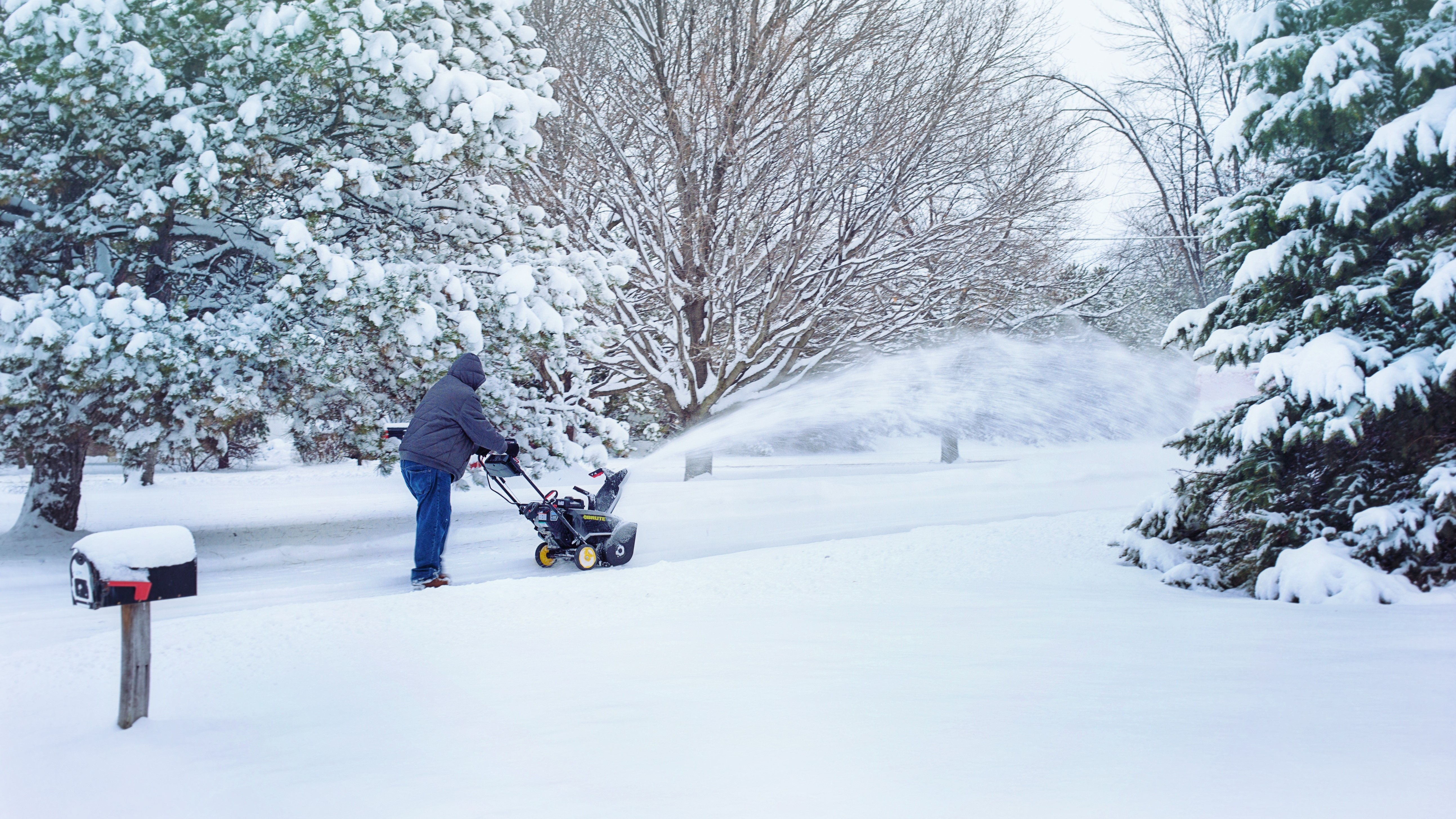 Person removing snow