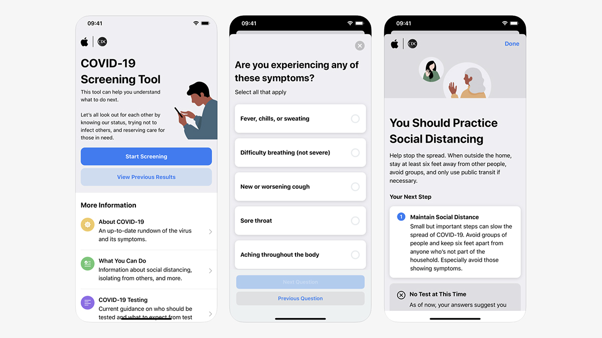 Apple launches Covid-19 screening tool so you can see if you need testing