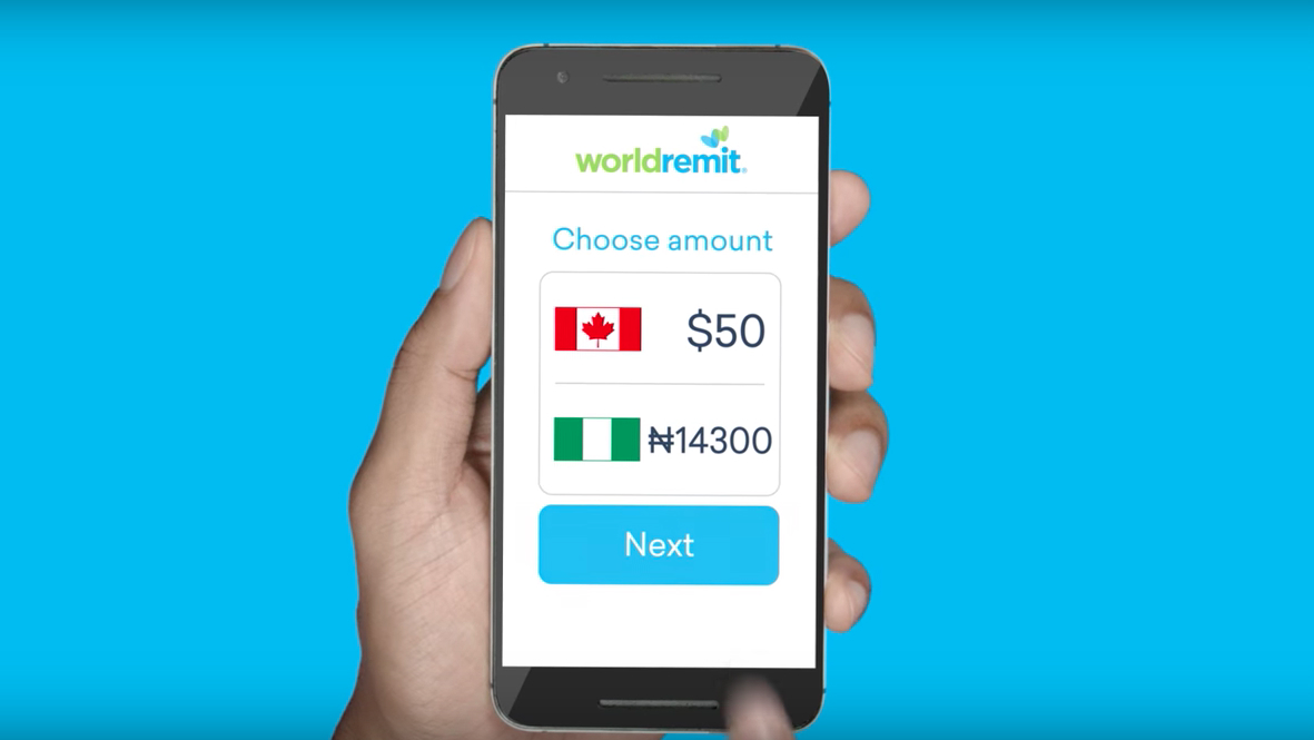 how to receive money from worldremit