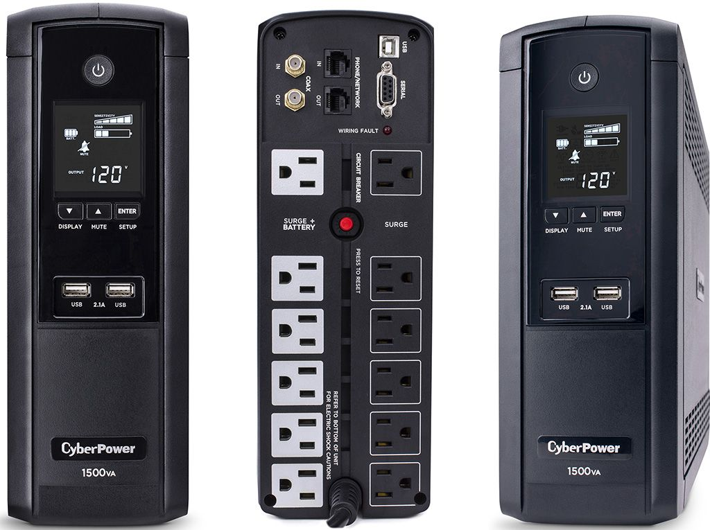 This burly uninterruptible power supply from CyberPower is on sale for $120