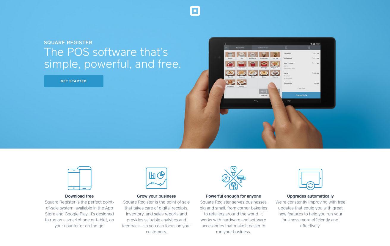 Landing page design - Square