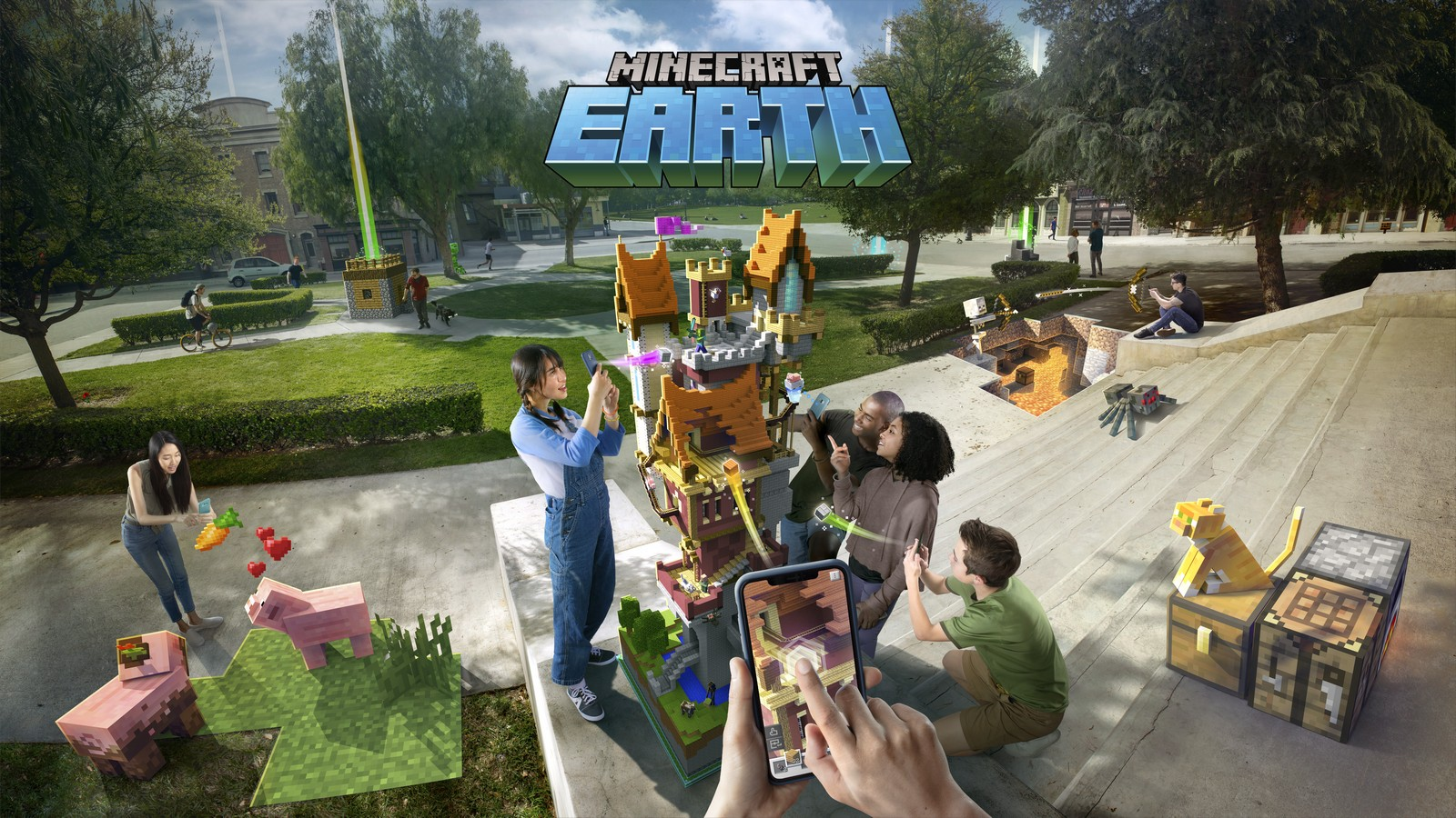 Minecraft Earth takes the original game and blends it with Pokemon Go
