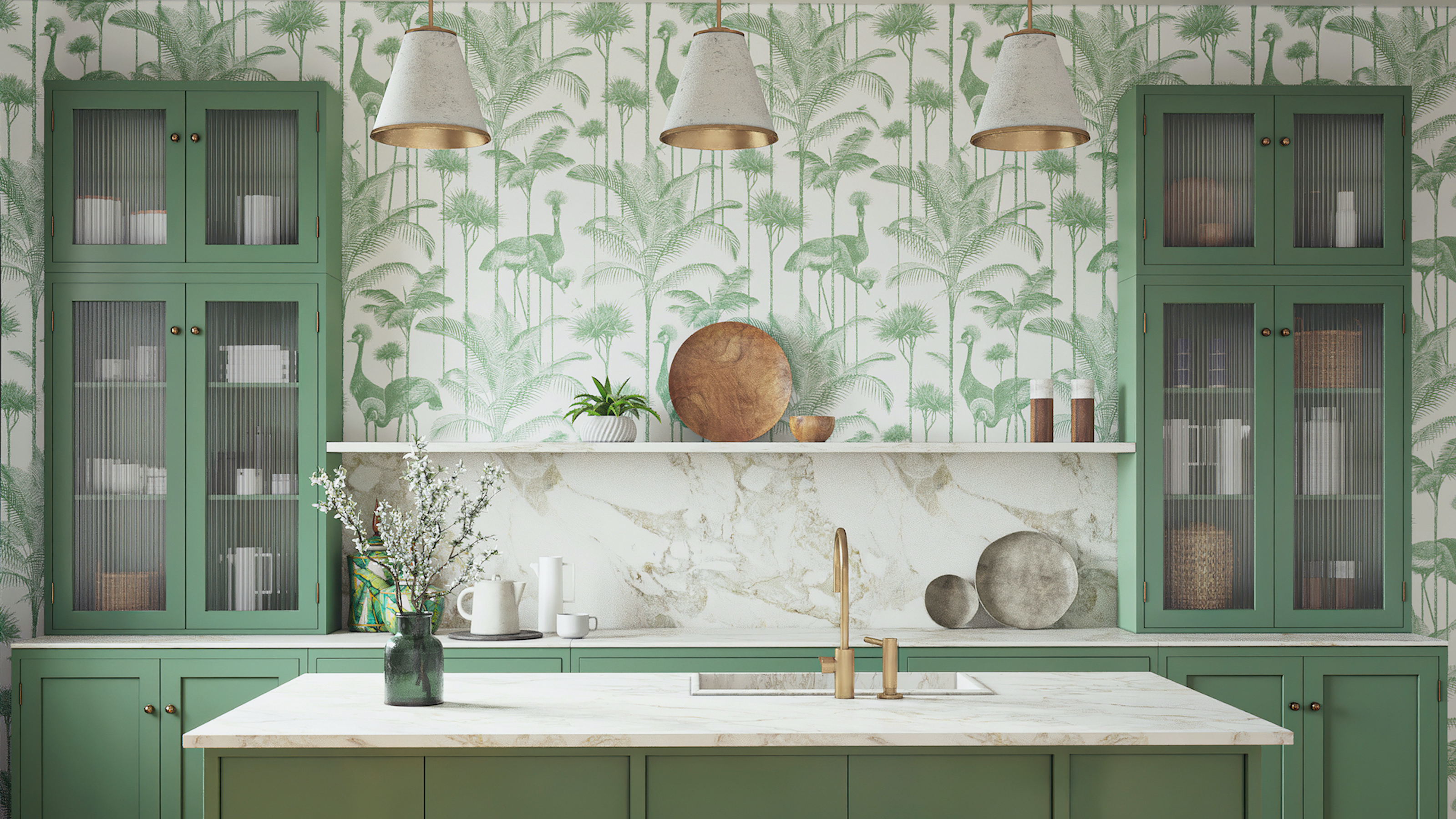 Country Wallpaper Ideas For Kitchens Pretty Rustic Designs Country