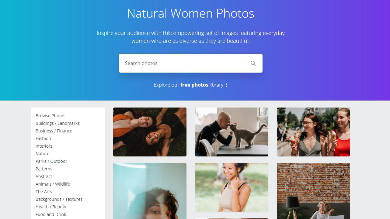 Canva Natural Women