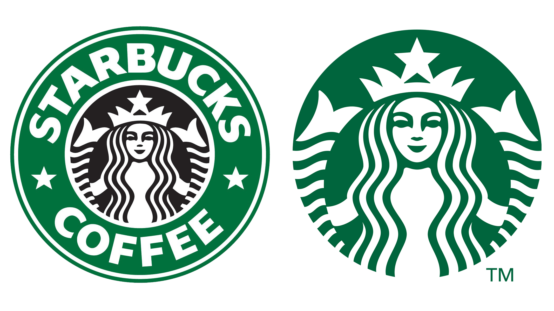 Starbucks logo before and after