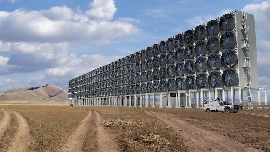 photo of a carbon capture plant