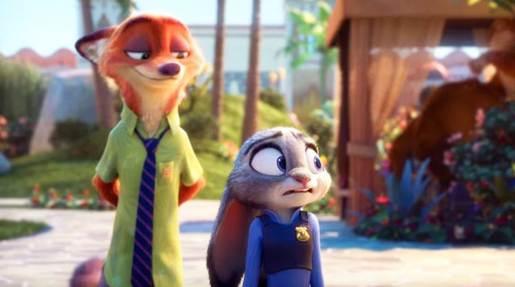 A still from the movie Zootropolis