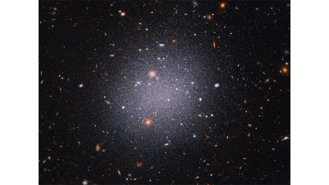 Hubble Space Telescope finds galaxy with weirdly little dark matter