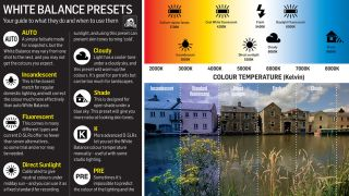 Only ever stick to Auto white balance Our cheat sheet gives you the lowdown on all the other options