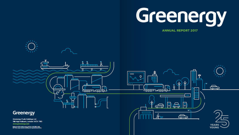 Greenergy annual report with illustration