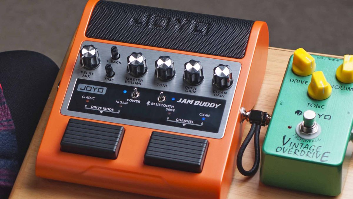 joyo unveils jam buddy pedalboard guitar amp with speakers musicradar. Black Bedroom Furniture Sets. Home Design Ideas