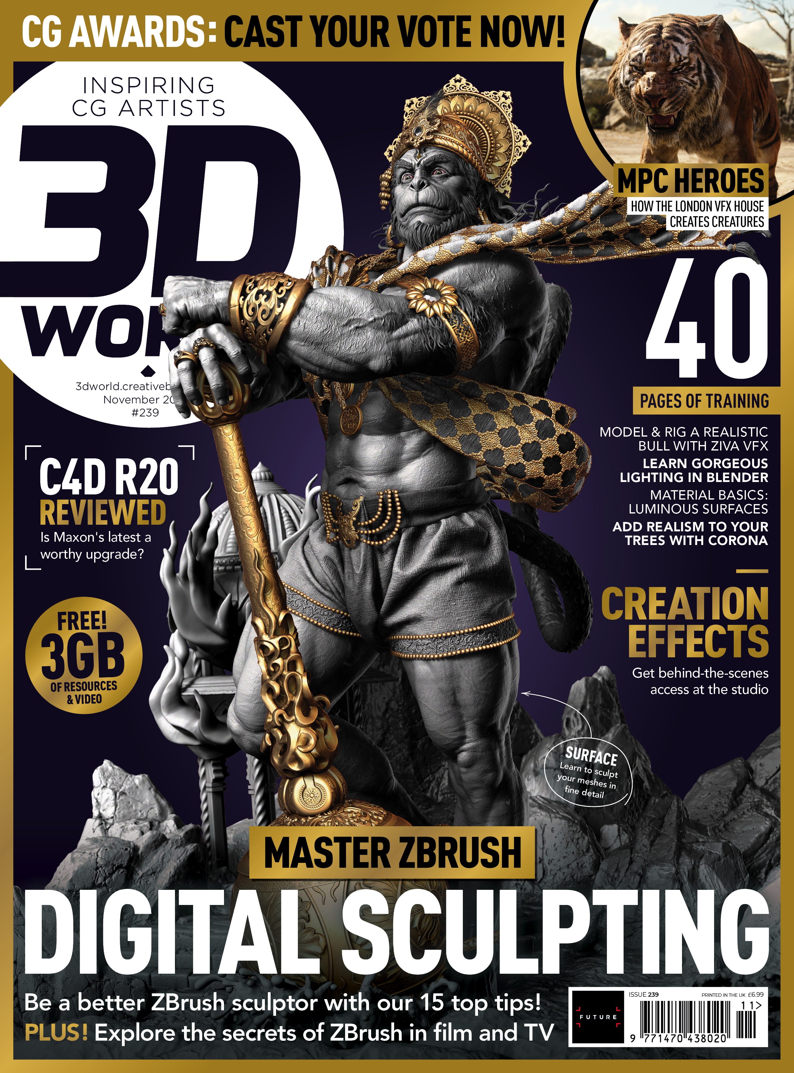 Master ZBrush digital sculpting with 3D World